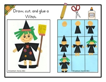 Fun how to draw a witch for Halloween - freebie! ~ make into a follow directions game - provide a card - copy it,....... until get a finished piece - then let them embellish to make their own