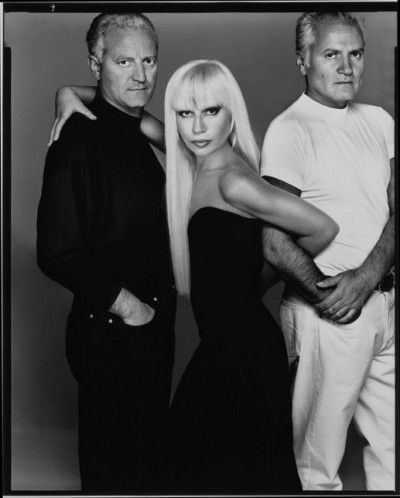 VERSACE: Santo, Donatella, Gianni - Italy Early picture after 1978 of all three Versace Siblings