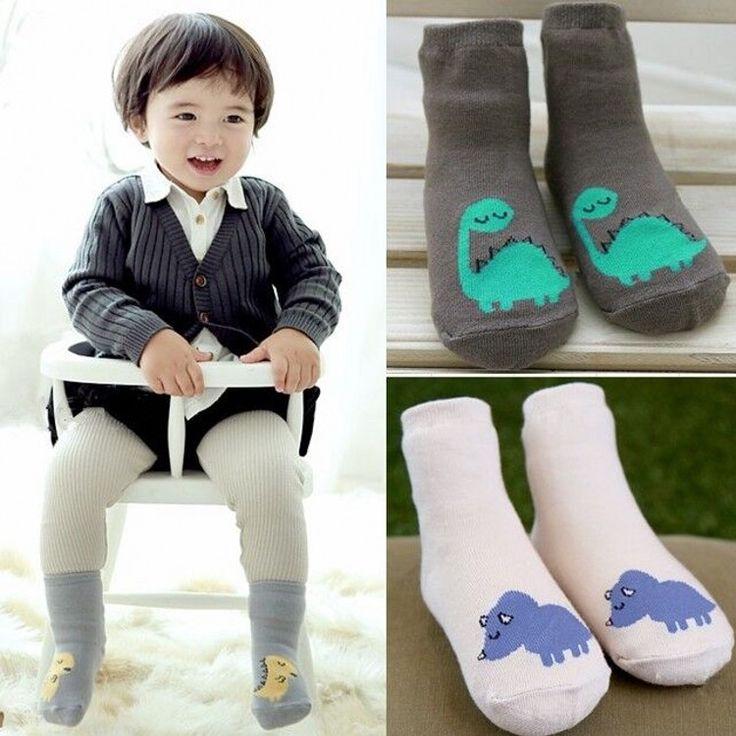 DHL EMS Free Shipping Baby Girls Boys New Winter Autumn Dinosaur Children Socks Soft Cotton Infants Wear Socks 3 Colors Korea