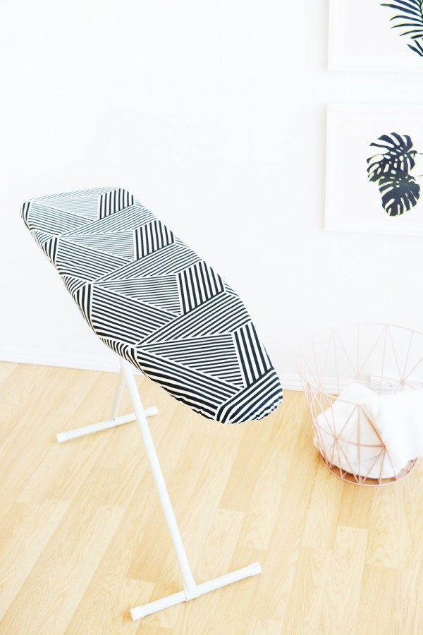 Make this DIY ironing board cover in about an hour. Pattern and full how-to instructions provided for any size/shape ironing board.