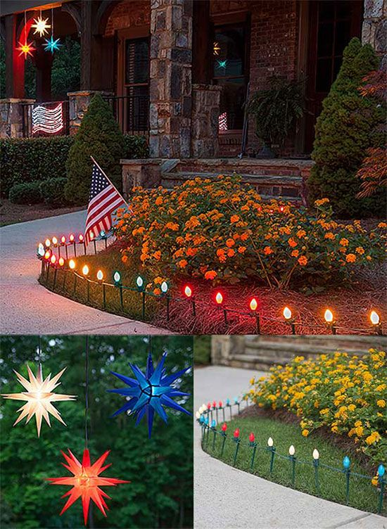 Backyard Summer Party Ideas Hang Redwhite And Blue Moravian Stars Across The Porch