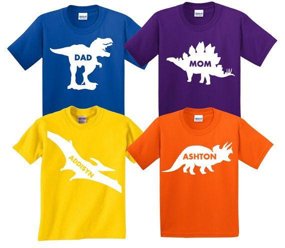 Dinosaur Party Family Shirts Dinosaur Birthday Party by CRAAUS