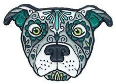 Image result for colorful pitbull tattoo