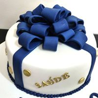 bolo pasta americana homem masculino aniversario bodas azul dourado laco belle sabores sao paulo 1/6