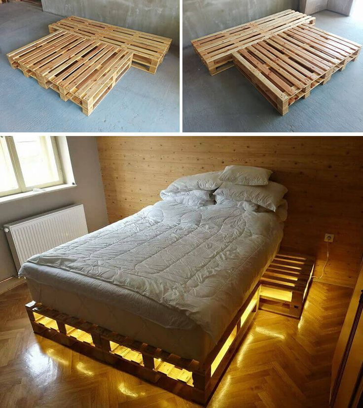Amazing Ideas Of Wooden Pallet Bed With Storage Decoration