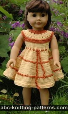 American Girl Doll Caramel Popcorn Summer Dress