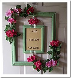 front door decor summerBest 25 Picture frame wreath ideas on Pinterest  Picture frame