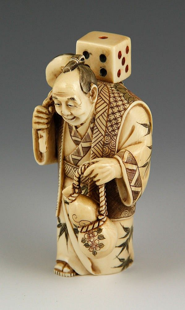 Th c carved japanese netsuke by kaminski auctions