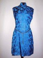 Rochie de ocazie stil cheongsam din brocart turcoaz anii '50 http://www.vintagewardrobe.ro/cumpara/rochie-de-ocazie-stil-cheongsam-din-brocart-turcoaz-anii-50-7495368 #vintage #vintagewardrobe #vintageautentic #rochiivintage #vintagedresses #brocade #turquoise
