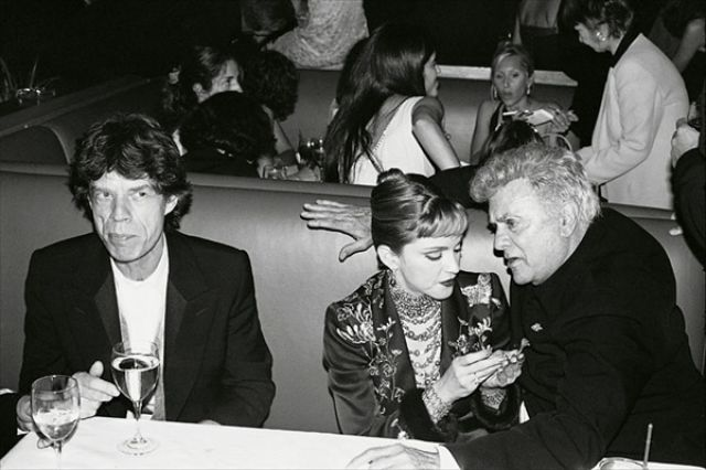 Famous People Partying Together  - Mick Jagger, Madonna and Tony Curtis by Dafydd Jones, 1997