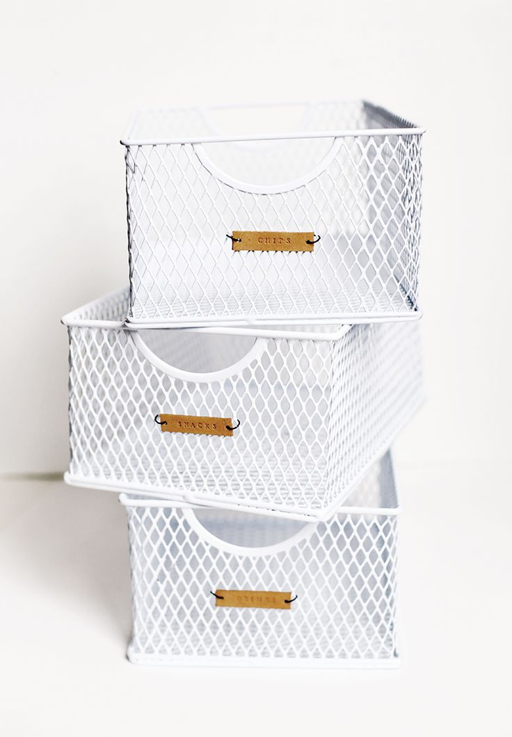 Pantry Organization - DIY Leather Labels - Etiquetas de cuero