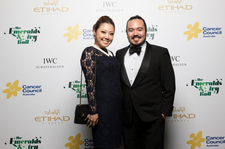 Cancer Council ambassador Adam Liaw with wife Asami