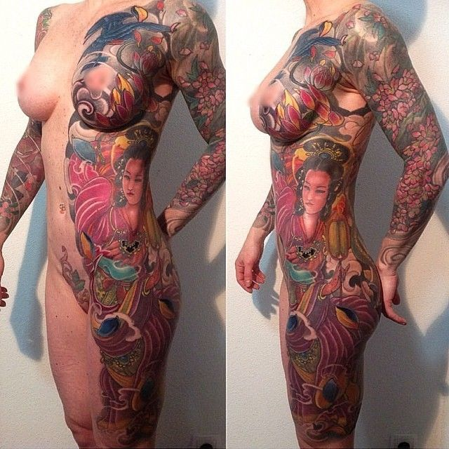 full front body tattoos on nude girls