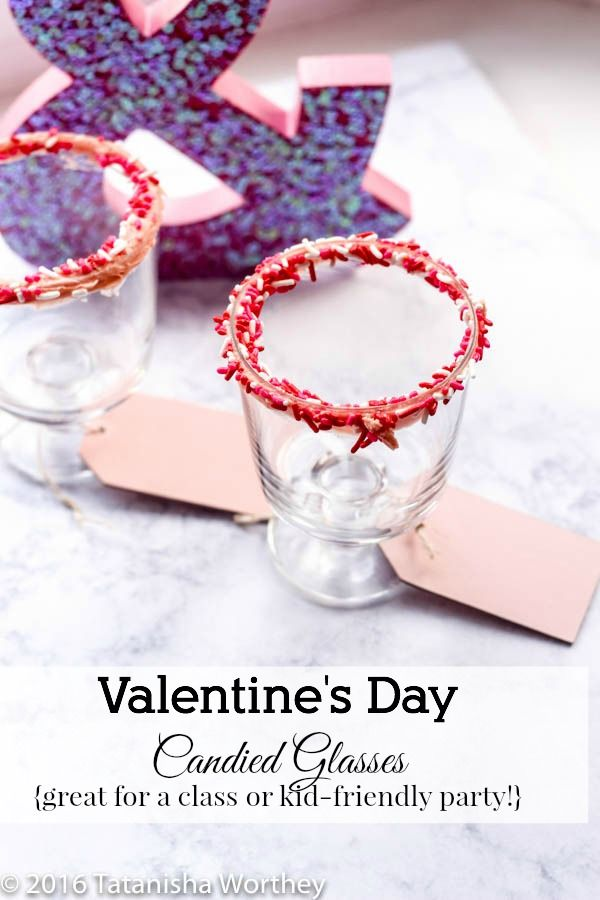 How To Make Candied Rim Glass + Valentine's Day Party Idea for Kids