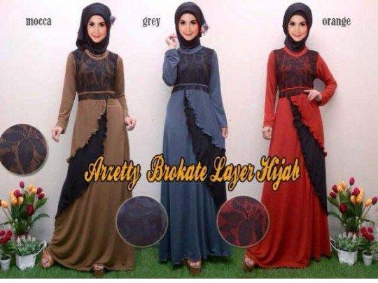 Baju Gamis Brokat Arzetty R109 Online dan Murah - http://www.bajugamisku.com/baju-gamis-brokat-arzetty-r109