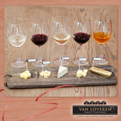Planning a trip to our valley? Enjoy the beautiful surroundings while tasting our best wine paired with some delicious cheeses. #monthoflove #winetasting #vanloveren