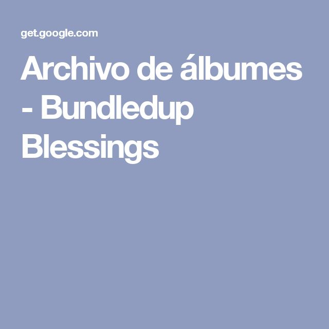 Archivo de álbumes - Bundledup Blessings