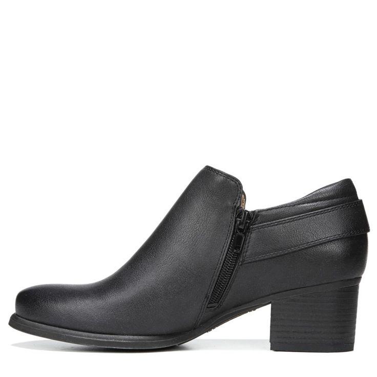 Natural Soul Women's Sandie Medium/Wide Ankle Boots (Black)