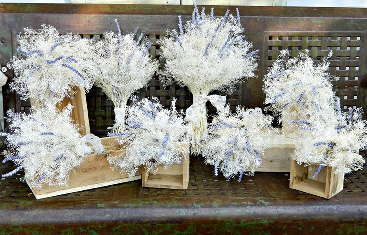 Bridal bouquet of creamy white baby s breath accented with