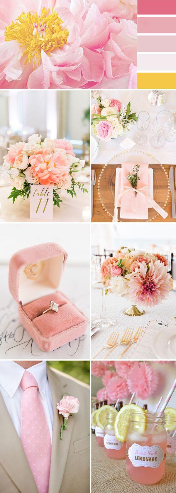 2017 pink wedding color ideas