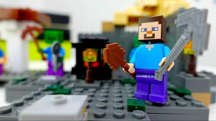 Майнкрафт видео. Лего Майнкрафт: обзор новой локации. Мультик с игрушкам...
