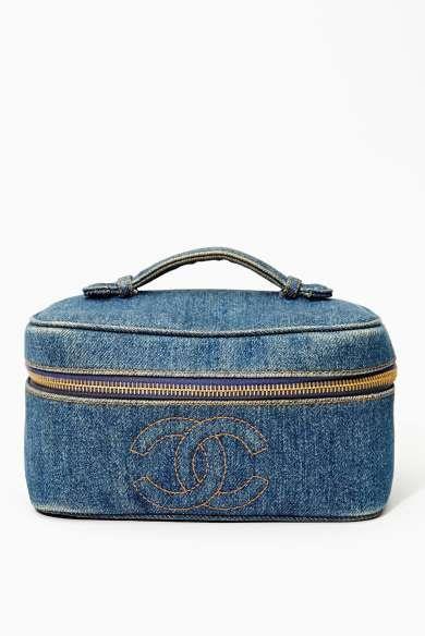 Vintage Chanel Denim Vanity Bag