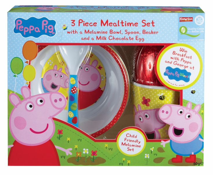 This Mealtime Set With A Yummy Chocolate Treat Is