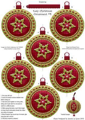 Easy Christmas Ornament 4 on Craftsuprint - Add To Basket!