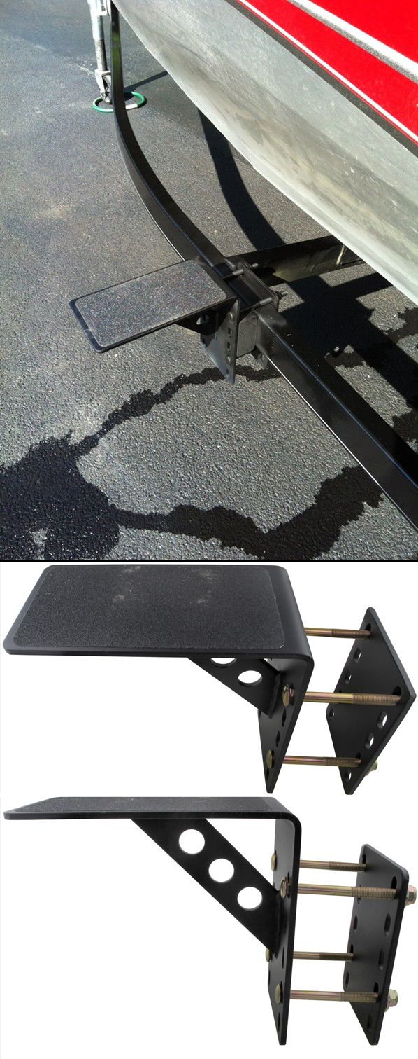 Boat Trailer Step Up! One of many awesome accessories for a boat trailer - unique step makes it easy to prep your boat for trailering! Bracket mounts to trailer tongue or frame and is made of durable steel.