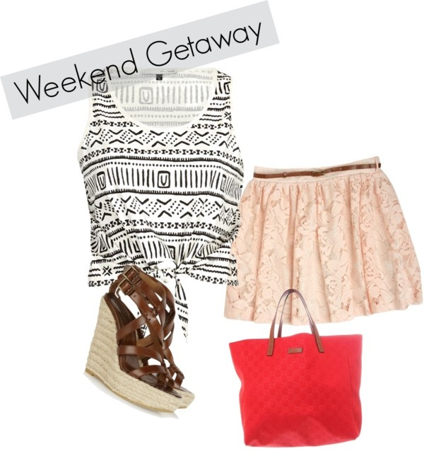 weekend getaway, created by ashlips33 on Polyvore