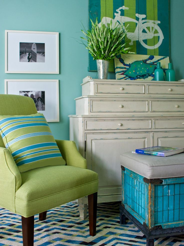 Blue And Green Bedroom Inspiration Decorating Design