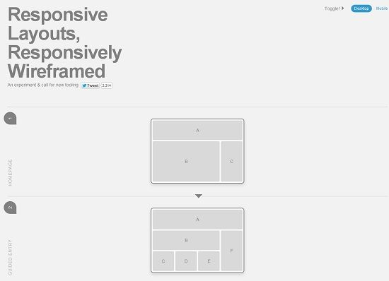 Responsive Wireframes is an experimental tool created by James Mellers of Adobe. It is built with only HTML and CSS (no images or JS were used) which you can use to visualize how your responsive design would look like on actual browsers of various desktops and mobile devices.