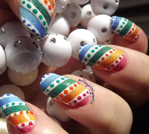124 best rainbow nails images on pinterest nail polish nail rainbow stripes and dots easter egg nail idea solutioingenieria Choice Image