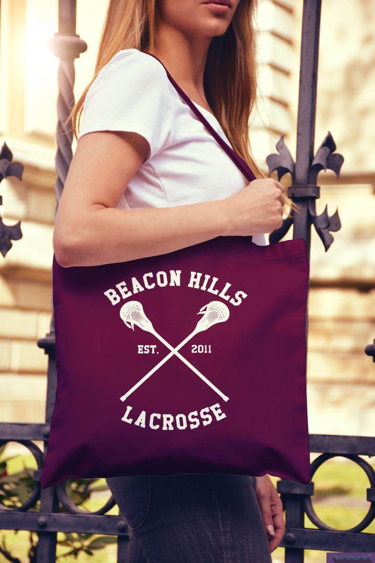 Teen Wolf Lacrosse Tote Bag Beacon Hills College di DaiquisCraftRoom su Etsy