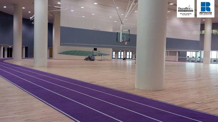 Decoflex sw14 iaaf certified athletic running track rubber for New york university interior design