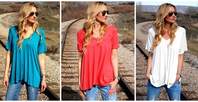 Must-have Jersey V-neck Tee!