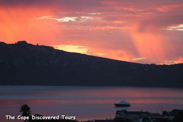 Sunset behind Postberg Mountain