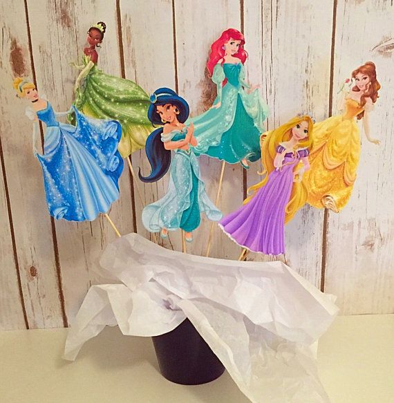 6 pezzi Disney Principessa centrotavola compleanno