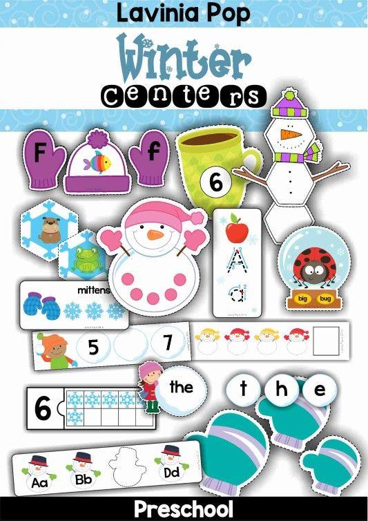 FREE Winter Preschool Center Activities