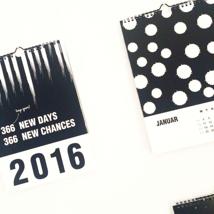 Calendar 2016 to hang on the wall  Design by Designparken www.designparken.com