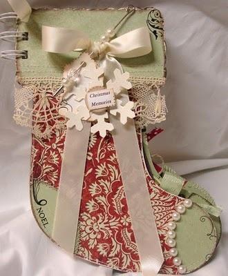 Adorable Christmas stocking album