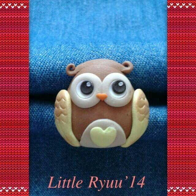 Fimo owl ring