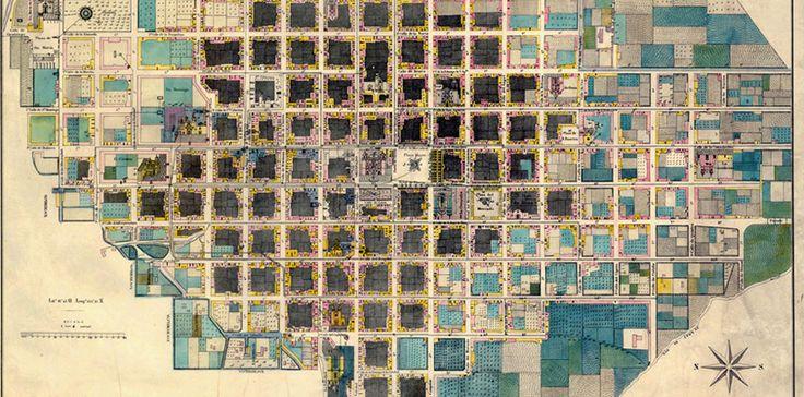 Historia y estética confluyen en un hermoso ejercicio: contemplar mapas antiguos de México, estados y ciudades; entre ellos Oaxaca, Veracruz, Acapulco, Querétaro