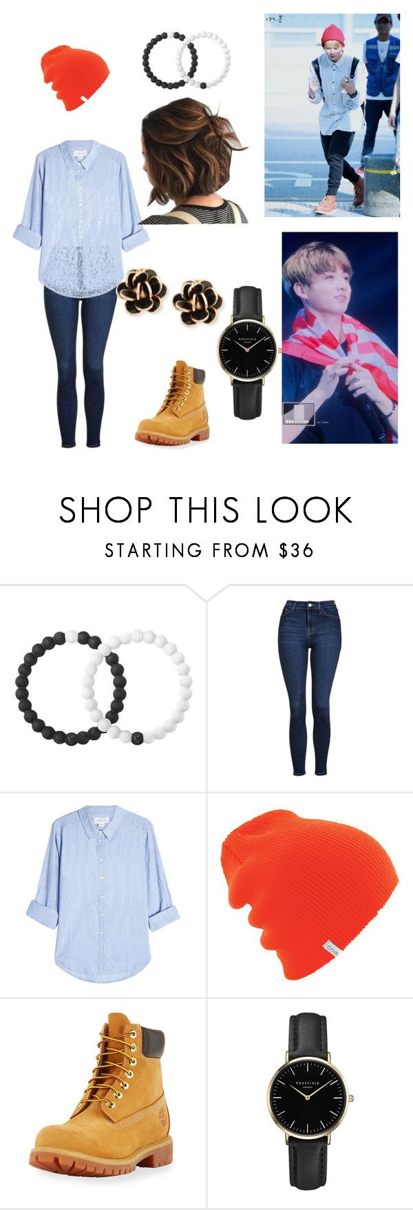 """Jungkook BTS Ropa de Pareja"" by cande-anahi on Polyvore featuring Lokai, Topshop, Velvet, Timberland, ROSEFIELD and Chantecler"
