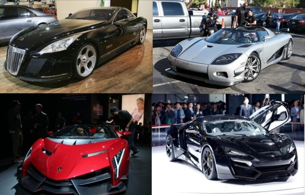 1. Maybach Exelero – Priced $8 million The most expensive car in the world, 700-hp, twin-turbo V12 engine and can reach the top speed of 218 mph. 2. Koenigsegg CCXR Trevita – Priced $4.…