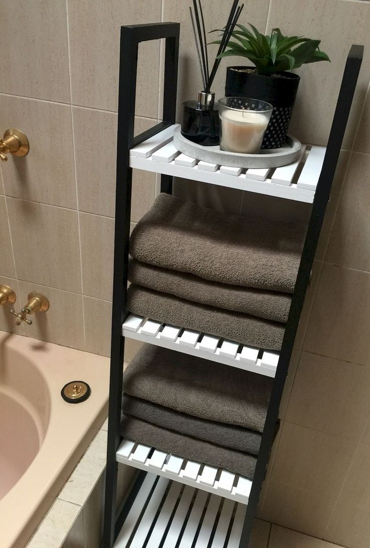 46 Charming Small Bathroom Storage Remodel Ideas