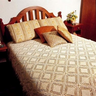 Nice and simple crochet bedspread with diagram