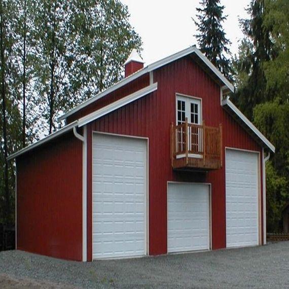 8 best plans images on pinterest pole barns metal for Barn style carport