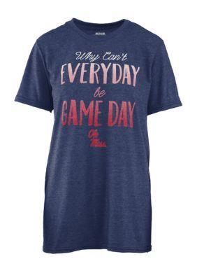 Royce Women's Ole Miss Everyday Game Day Short Sleeve Tee - Navy - Xl