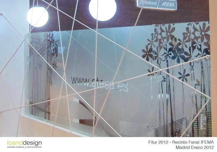 "Diseño de Stand para ""NATIONAL ATESA"" en la Feria Internacional del Turismo FITUR en IFEMA (Madrid) 2012"